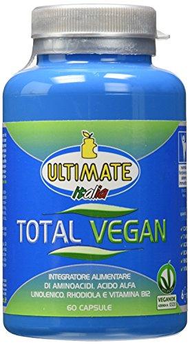 Total Vegan- 10 Ingredienti Per Supportare La Dieta Vegana - Integratore Alimentare Di Aminoacidi, Acido Alfa Linolenico, Rhodiola Rosea E Vitamine. - 60 Capsule - Ultimate Italia