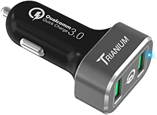 Quick Charge 2.0 Car Charger, Trianium 36W Dual USB Output Smart Port with Qualcomm Quick Charge 2.0 for Samsung Galaxy S7 S6 Edge,LG G5 G4,HTC 10 A9,Nexus 5X 6P,Pixel,iPhone 7 6/6S Plus,Note 5 4 3