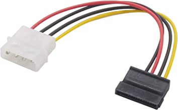 Audio Fan Serial ATA Power Converter Cable SATA Power (15 Pin) Cable Straight