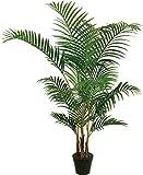 Meilleur artificielle 1,5m 150cm Areca palmier Tropical véranda Bureau Intérieur Extérieur Jardin Plante