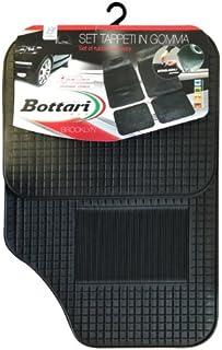4 Pezzi Bottari 39098 Set Tappeti Auto su Misura in Moquette per  Modello Aygo produzione dal 2014 ad oggi Nero