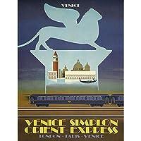Travel Tourism Simplon Tunnel Orient Express Venice London Paris UK Art Print Poster Wall Decor 12X16 Inch 旅行観光オリエントヴェネツィアロンドンパリイギリスポスター壁デコ