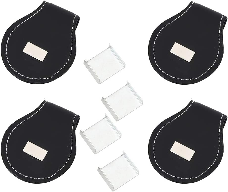 Jinyank 4PCS Billiard Chalk Clip Tucson Mall Leather Cue Por Holder PU Beauty products