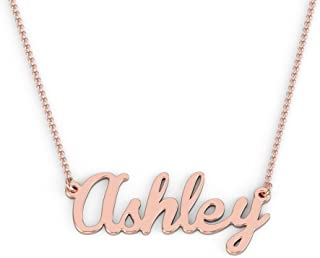 14K Personalized Name Necklace in Brannboll Font by JEWLR