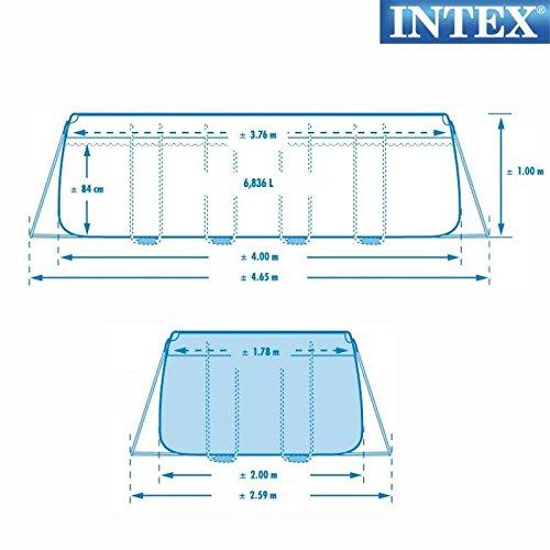 Intex 26776 NP Piscina Prisma Frame 400 x 200 x 100 cm con Bomba ...