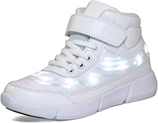 AFT AFFINEST Energy LED Light Up Shoes High Top Flashing Sneakers for Boys Girls