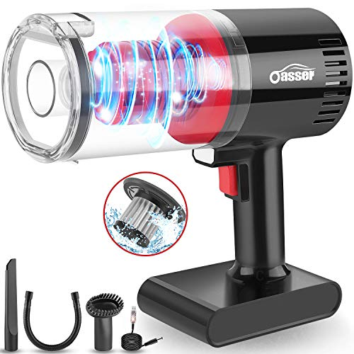 Sale!! Handheld Vacuum Oasser Portable Hand Vacuum Cordless Wet Dry Vacuum Cleaner for Car Home Pet ...