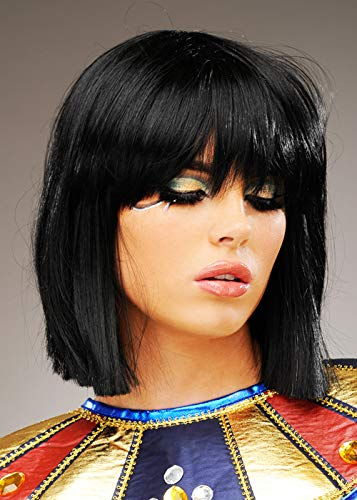 Womens Deluxe noir perruque de Cléopâtre