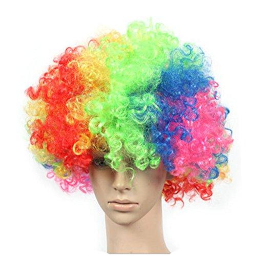 Lot de 2 Halloween Costume Party Clown Perruques cheveux, Colorful