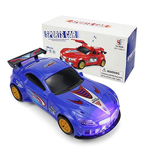 Coche deportivo de juguete, automóviles eléctricos con luces y música de colores, abertura automática de la puerta, rotación universal de 360 grados, regalos para niños de 3 a 7 años niñas niñas niñ