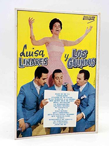 CANCIONERO. Luisa Linares Y Los Galindos. Bistagne. Oferta