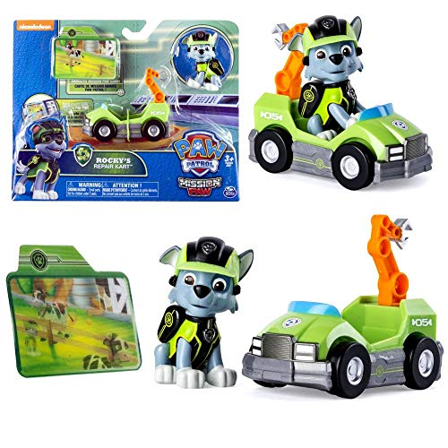 PAW PATROL Mission Paw   Auswahl Mini Fahrzeuge mit Spiel-Figur, Figur:Rocky