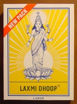 Laxmi Dhoop Sticks - Box of 12 Packs, 8 Sticks Each