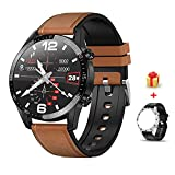 Voigoo Smartwatch(2021 neu) 1.3' Touch Screen Herren Damen Intelligente Uhren Sport | Bluetooth-Anruf | EKG-Überwachung Tracker Pulsuhr Schrittzähler Blutdruckmessung IP68 Wasserdicht für Android iOS
