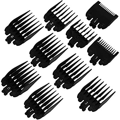 ADXCO 10 Colors Hair Clipper Guide Combs Hair Trimmer Limit Comb Hair Cutting Guide Replace Comb Compatible with Many Wahl Clippers/Trimmers, 10 Sizes by ADXCO