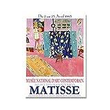 Exposición de Matisse Grabados y carteles 1963 Impresiones de museos Pinturas retro Murales modernos Pinturas en lienzo sin marco A1 15x20cm