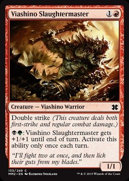 Magic: the Gathering - Viashino Slaughtermaster - Viashino Massacratore - Modern Masters (edición 2015)
