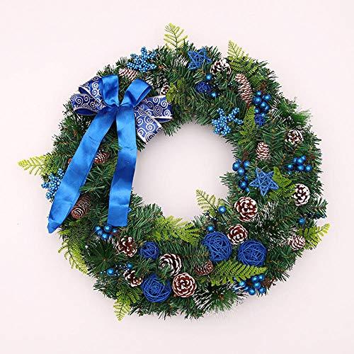 NBBEIBAO slinger slinger kunst slingers Lucide Verdi Kerstmis decoratie deuren en ramen decoratie voor feesten PVC Pigne naalden 45 cm 4 stijlen