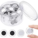 45 Pieces Round Magnets Circle Whiteboard Magnets Mini Fridge Magnet for Home Schools Offices (Clear)
