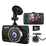 "ThiEYE Dash Cam Front and Rear Car Camera Dual Dashcam FHD 1080P 3.2"" IPS..."
