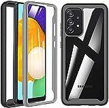 BESINPO Outdoor Hülle Für Samsung A72 Handyhülle Bumper case 360 Grad Schutzhülle Cover mit Intergriertem Bildschirmschutz 2021 Ausgabe -Schwarz