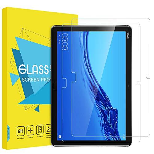 MoKo [2 Stück Folie Kompatibel mit Huawei MediaPad M5 Lite 10.1 - HD 9H Panzerglas Bildschirmschutzfolie Glas Bildschirmschutz Bildschirm Schutzfolie Glasfolie für MediaPad M5 Lite 10.1