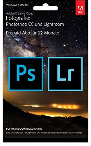 Adobe Creative Cloud Fotografie (Photoshop CC + Lightroom) - 1 Jahreslizenz [import allemand]
