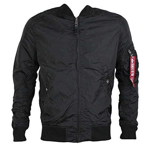 ALPHA INDUSTRIES Fliegerjacke MA-1 TT schwarz LONG