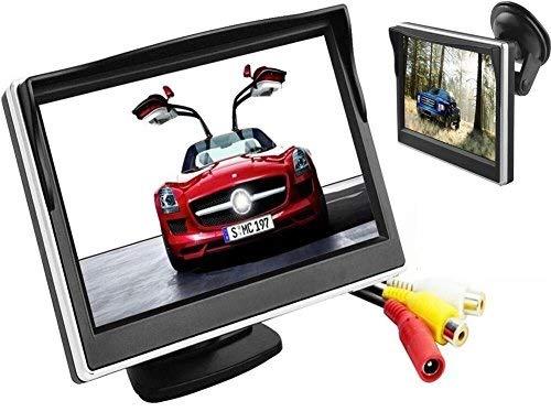 BW 5 pulgadas de color digital TFT-LCD coche monitor monitor de alta resolución 800 800 * 480 alta resolución con dos soportes y dos entradas de video, LCD a todo color retroiluminación para el coche retroceso de copia de seguridad de cámaras / DVD / VCD / GPS /