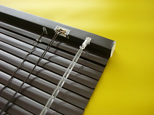 WR-Design Alu Jalousie Mocca - Breite 50 bis 240 cm - Höhe 160/220 cm - Tür Fenster Rollo Jalousette Aluminium Fensterjalousie Lamellen Metall (80 x 220 cm)