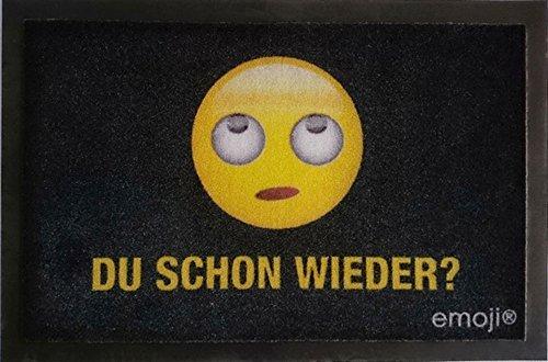 Emoji - Du schon wieder? - Fußmatte - Größe 60x40 cm - Material Polypropylen