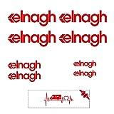 Sticker Mimo Adhesivos compatibles con ELNAGH Kit 1 color, accesorios para caravana, caravana, autocaravana, autocaravana, camping (rojo)