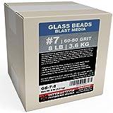 #7 Glass Beads - 8 lb or 3.6 kg - Sand Blasting Abrasive Media (Medium) 60-80 Mesh or Grit