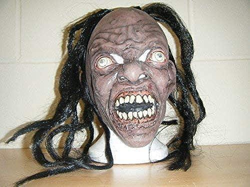 WRESTLING MASKS UK Caníbal Monster Deluxe Látex Halloween Cabeza Completa Pelo Máscara de Disfraz