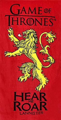 SETINO 821-478 Game of Thrones Hear me Roar Lannister - Toalla de playa (70 x 140 cm), diseño de Juego de Tronos