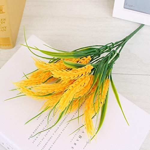 35cm Simulation Pflanze Sämlinge Reis gefälschte Blume Kunststoff kleine Blume Familie Dekorationen: Gelb