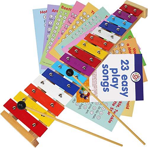 Melal Xylophone - 15 Note Color Glockenspiel - Sheet Music Cards