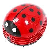 Adanse Marienkaefer patrón Batteriebetrieben Mesa aspiradora polvo limpiador de polvo, rojo