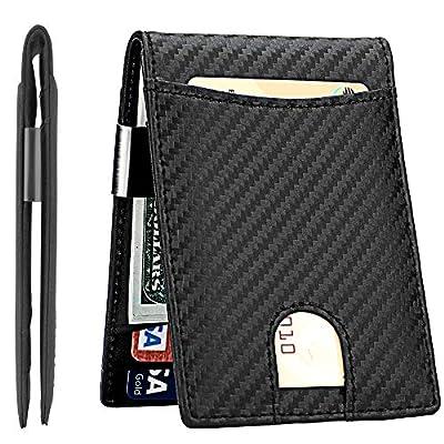 Lavemi Money Clip Wallet for Men Slim Front Pocket RFID Blocking Card Holder Minimalist Bifold Wallet