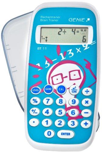 Genie BT11 rechentrainer (lerspel, mathe leren door ca. 300.000 taken, incl. rekenmachine-functie, beschermdeksel)