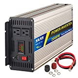 Sug 2000W(Peak 4000W) Power Inverter Pure Sine Wave DC 12V to AC 110V 120V Converter Back up Power Supply for RV, Home, Car Use, Solar System