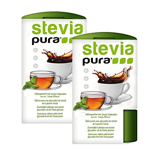 steviapura | Stevia Tabs 2x300 Stück Stevia Tabletten im Dosierspender 600 Stück - Sparpreis