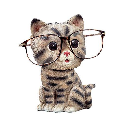 CHICOLY Niedlichen Hund Tiere Geformte Harz Brille Halter Regal Münze Bank Dekoration Beste Geschenk für Kinder Freunde