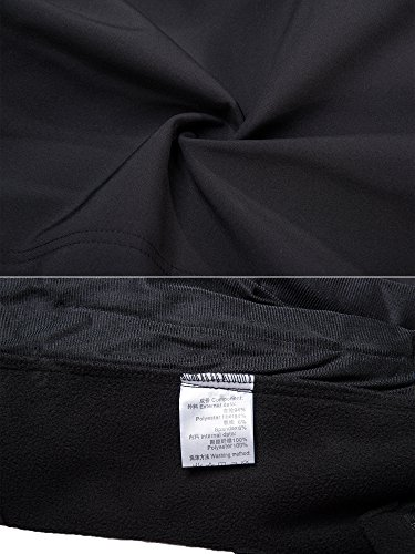 TACVASEN Men's Classic Fleece Liner Hooded Outwear Softshell Tactical Jacket Black,US XL