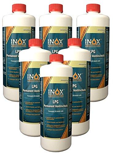INOX® LPG Permanent Ventilschutz Additiv, 6 x 1 Liter - Zusatz für Autos mit Gasanlage
