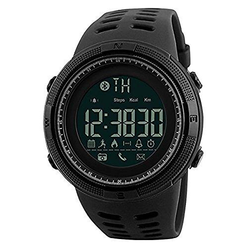 NANHUA, reloj de pulsera para hombre, digital, Bluetooth, podómetro, cronógrafo, resistente al agua
