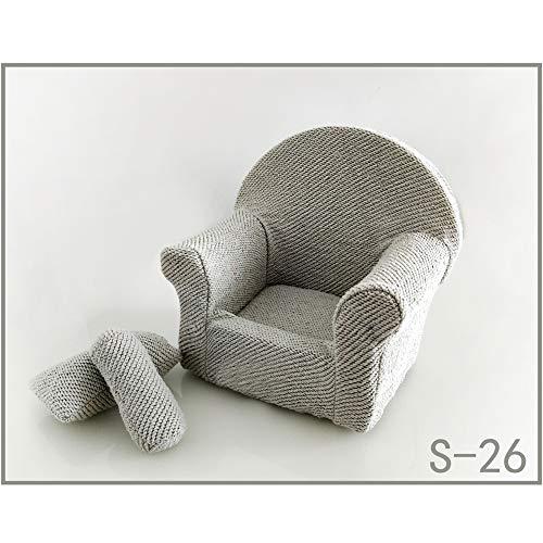 MCLseller Sofá de fotografía para recién Nacidos, Conjunto de sofá para bebés con cojín, Accesorios para fotografía de Asiento de bebé, Accesorios para Fotos de Estilo para recién Nacidos