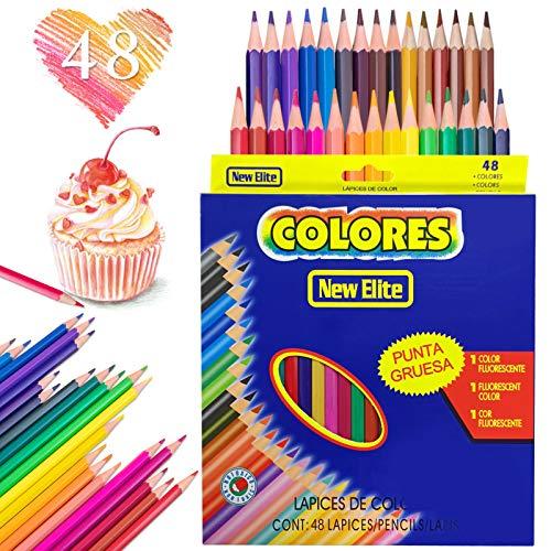Huahuanghui Farbstifte, 48 pack Farbe Holzstifte Set, Öliger Buntstifte für kinder erwachsene,Mehrfarbige Kunst Bleistifte, Aquarellstifte zum Zeichnen, Skizzieren, Schattieren und Färben