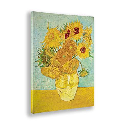 Giallobus - Quadro - Stampa su Tela Canvas - Vincent Van Gogh - I Girasoli - 50 X 70 Cm