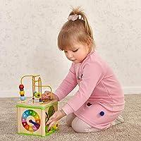 Top Bright - Cubo giocattolo multi-attività per bambini di 1 anno di età, giocattoli in legno per bambini di 12 mesi, regalo di compleanno #6